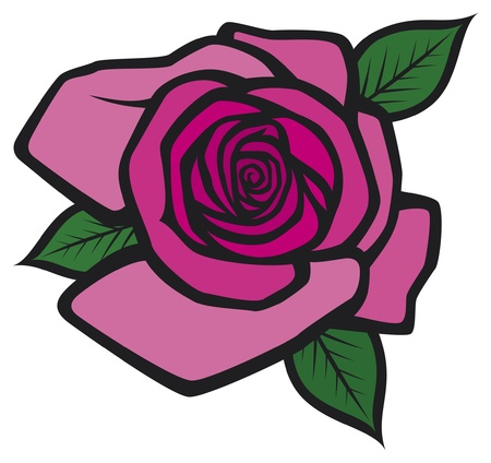 pink rose Stock Vector - 15539347