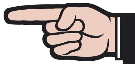 wijzende hand (punt vinger)