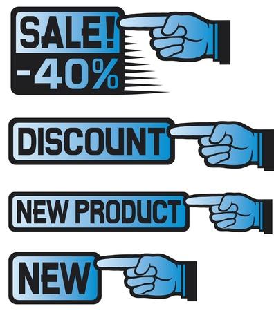 montrer du doigt: Set Price Tag (doigt point)