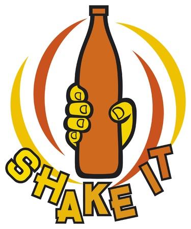 shake it symbol Stock Vector - 15539345