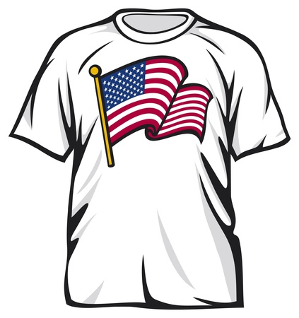 star clipart: USA flag t-shirt  United States of America