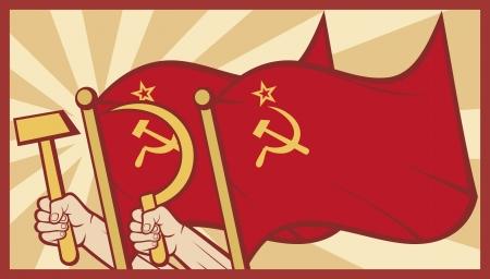 communism: soviet flag poster  ussr