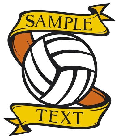 volleyball team: volleyball club emblem  label, design  Illustration