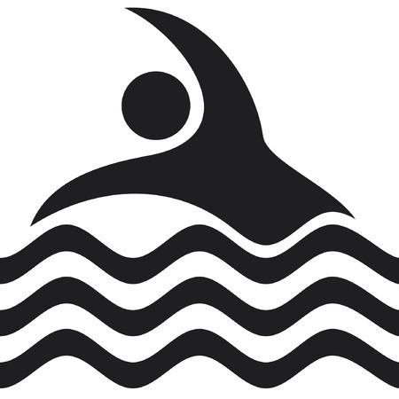 swim race: Icono nadador nataci�n Icono