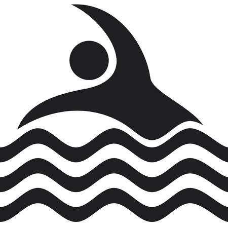 pool symbol: swimmer Icon  swimming Icon