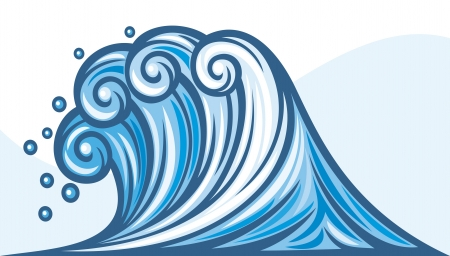 sea wave  ocean wave  Vector