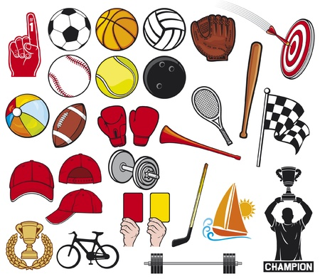 big sports collection Vector