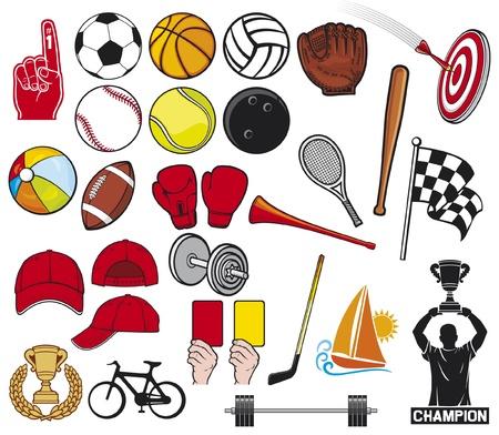 guante de beisbol: gran colección deportiva Vectores