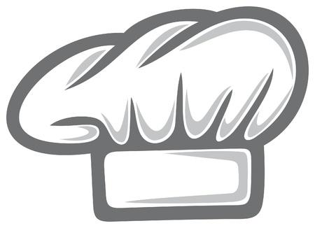 chef italiano: blanco cocinero sombrero