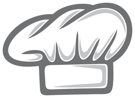 chapeau chef: toque blanche Illustration