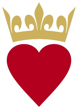heart with crown: heart with crown (heart and crown) Illustration