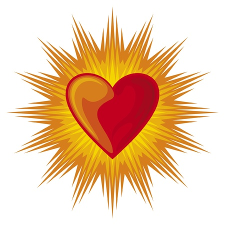 heart shining Stock Vector - 15575598