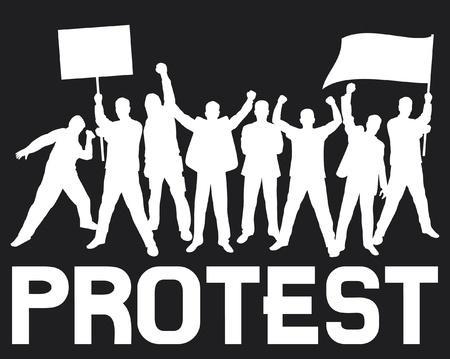 activism: un mont�n de personas que protestaban furiosos (un grupo de personas que protestaban, protesta, manifestante, el hombre protesta, manifestaciones, protestas, los manifestantes, fan hooligan, dise�o de protesta, carteles de protesta) Vectores