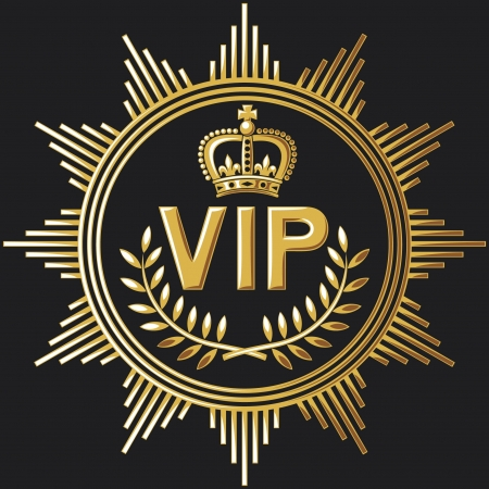 important: vip design (vip symbol, very important person sign) Illustration