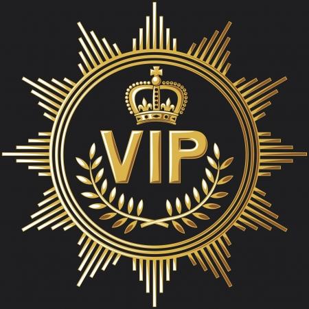 golden key: vip design (vip symbol, very important person sign) Illustration