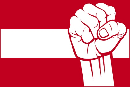Austria fist  flag of Austria  Stock Vector - 15594646