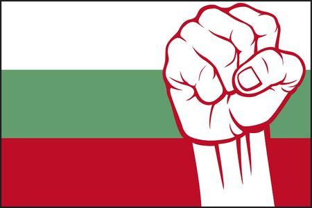 bulgaria fist  flag of bulgaria Stock Vector - 15594647