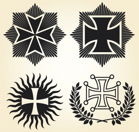 kingdom of god: vector isolated crosses Illustration