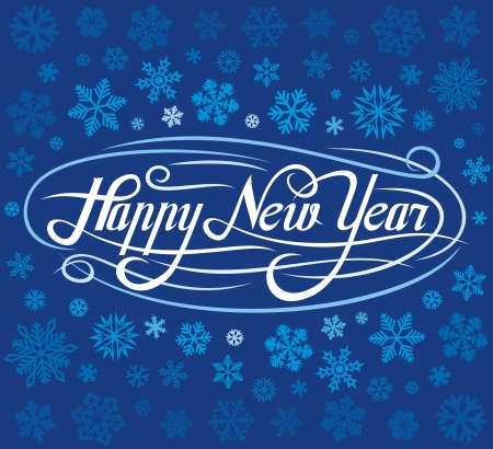 happy new year greeting card Stock Vector - 15594664