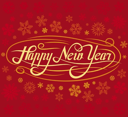 happy new year greeting card Stock Vector - 15594663