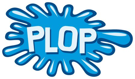 cartoon - plop  comic book plop  Stock Vector - 15594649