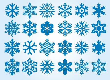 Collection of snowflakes  set of snowflakes