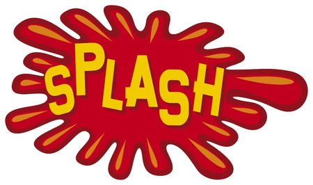 cartoon - splash  comic book splash  Vector
