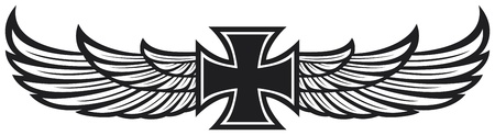 engel tattoo: Kreuz und Flügel
