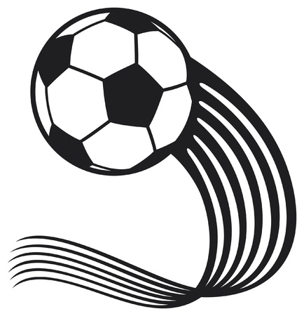 exercise ball: football ball (soccer ball) Illustration