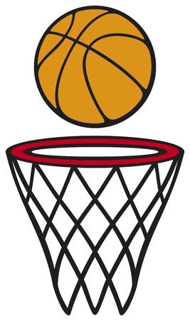 balon baloncesto: baloncesto aro y pelota