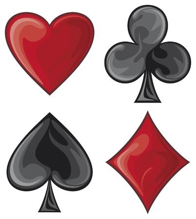 jeu de carte: symboles de cartes décoratives