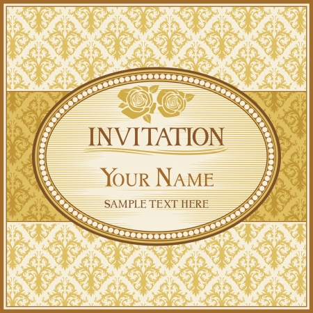 vintage background and frame with sample text Stock Vector - 15615516