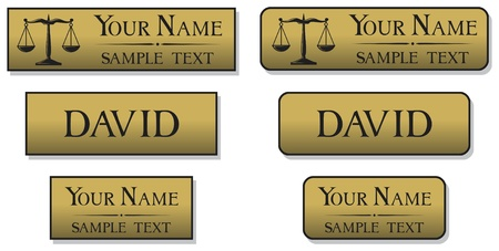 name tags: engraved metal name badges