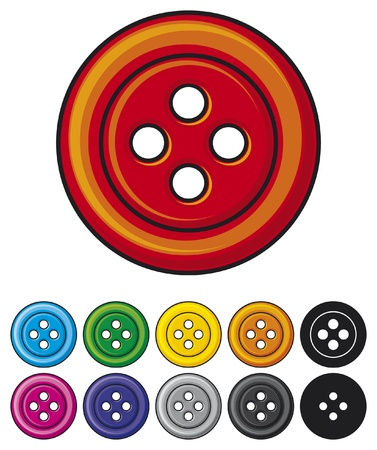 shiny button: set of sewing buttons  colored sewing button collection