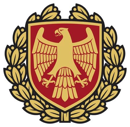 eagle emblem  eagle coat of arms, eagle symbol, eagle badge, eagle shield and laurel wreath  Stock Vector - 15686894