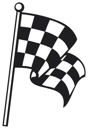checkered flag  racing checkered flag, finishing checkered flag, finish flag  Vector
