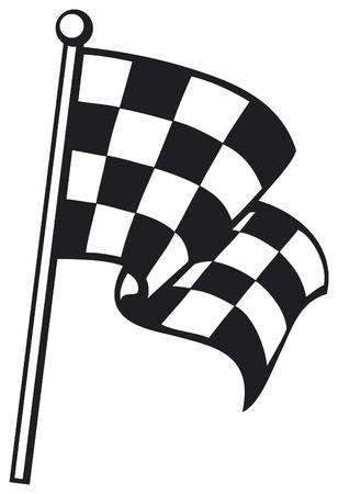 d�part course: damier racing flag drapeau � damier, la finition drapeau � damier, terminer drapeau Illustration