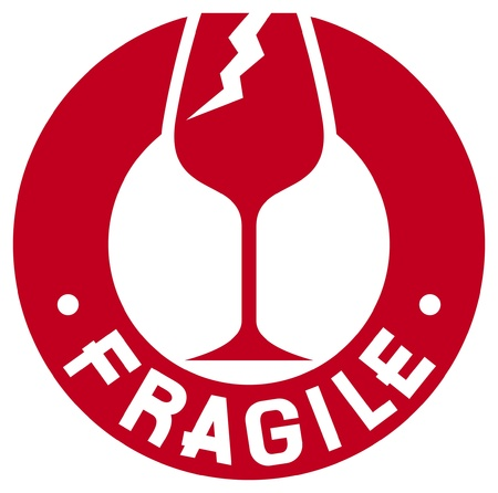 stamper: fragile stamp  fragile symbol  Illustration