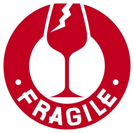 símbolo sello frágil frágil