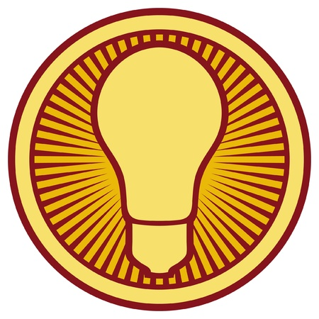 light bulb Icon  light bulb button, light bulb symbol  Stock Vector - 15686782