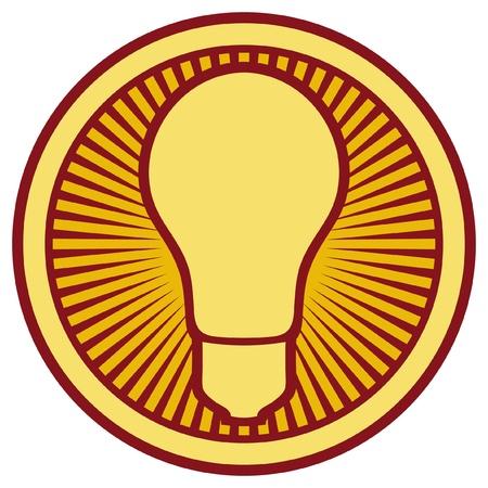 electric bulb: light bulb Icon  light bulb button, light bulb symbol  Illustration