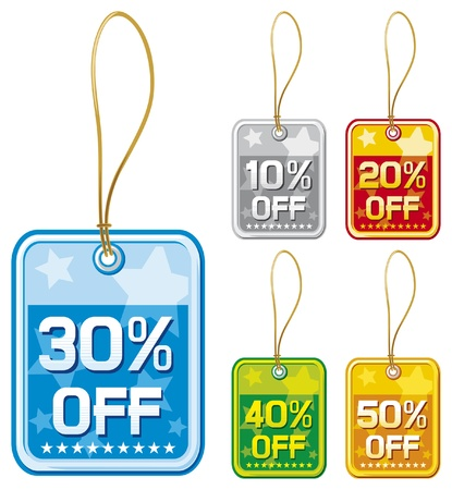 price tags set (set of price tags) Vector