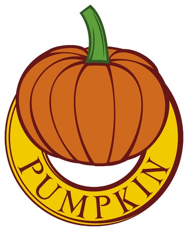 pumpkin label (pumpkin design, pumpkin symbol) Stock Vector - 15686857