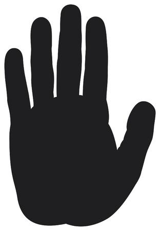 emelt: megáll kéz sziluett