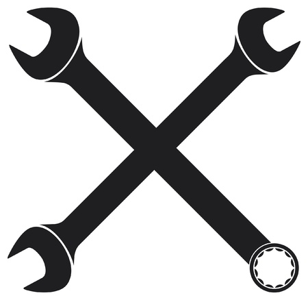 crossed wrenches Vector