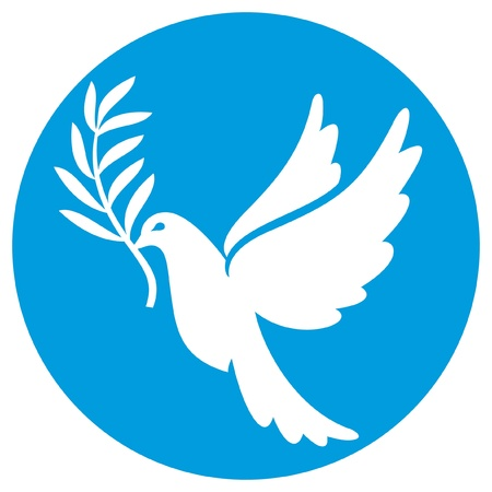 dove of peace (peace dove, symbol of peace) Vector