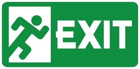 groene afrit noodpictogram (nooduitgang deur - bord met menselijke figuur, nooduitgang label, nooduitgang pictogram)
