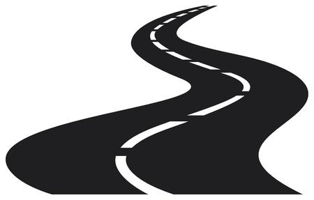 illustrazione vettoriale di strada tortuosa Vettoriali