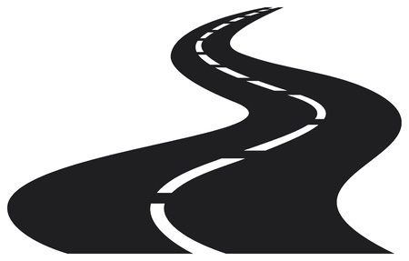 vector Illustration of winding road Vector