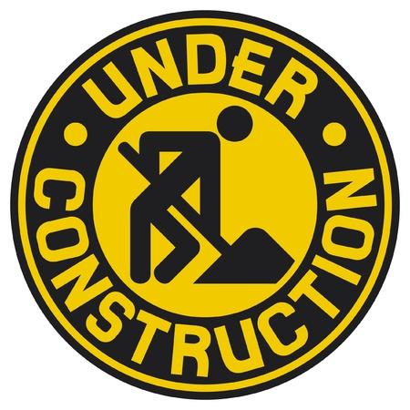 under construction symbol: under construction (under construction sign with man, under construction icon, under construction symbol)